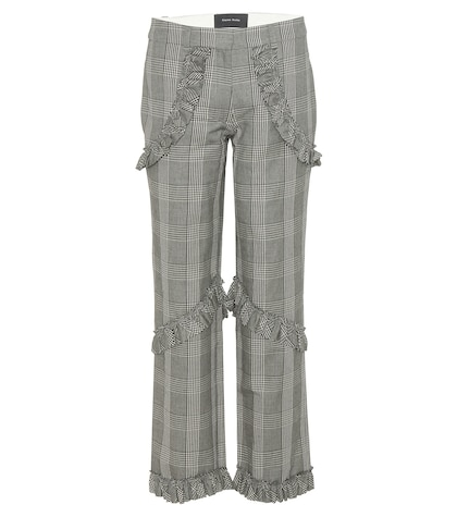 Ruffled Check Trousers