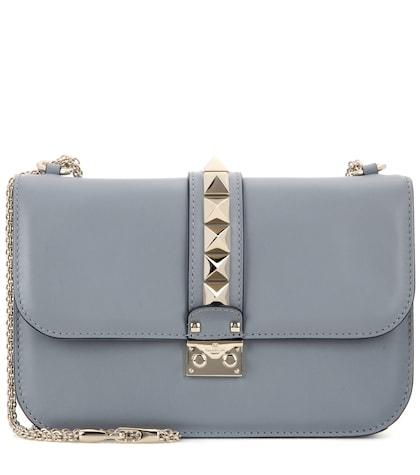 Lock Medium Leather Shoulder Bag