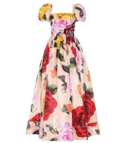 dolce gabbana female embellished silkblend gown