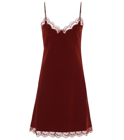 Silk-crêpe slip dress