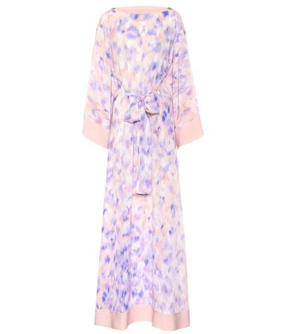 roberto cavalli female printed silk maxi dress