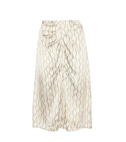 isabel marant female sliven silk midi skirt