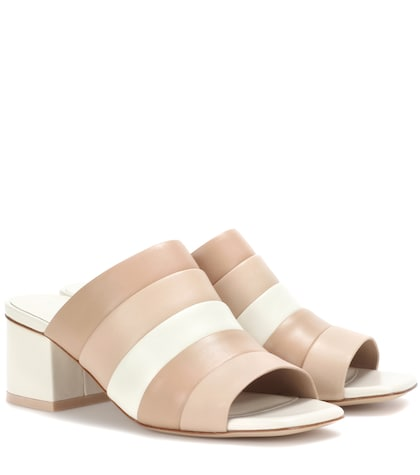 Ellenha striped leather sandals