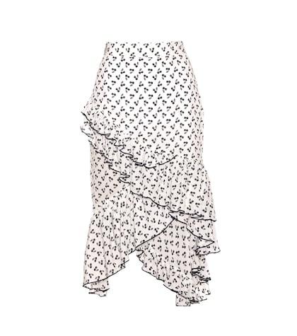 Tucson Printed Silk Skirt