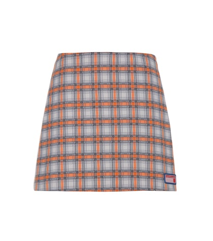 prada female plaid skirt