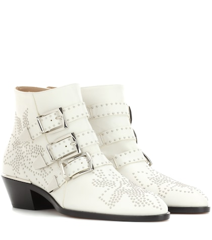 Susanna Studded Leather Ankle Boots