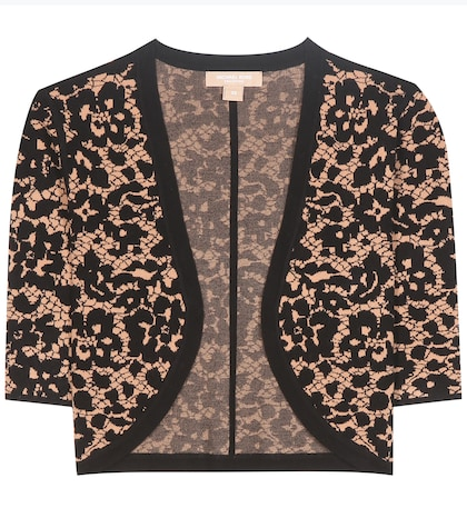 michael kors female 188971 knitted cropped cardigan