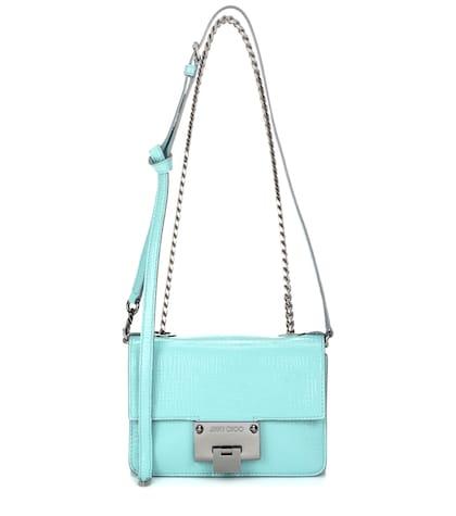 jimmy choo female 263793 rebel soft mini patent leather shoulder bag
