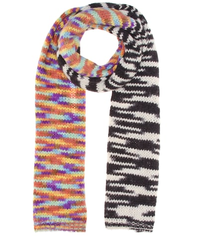 Knitted alpaca-blend scarf