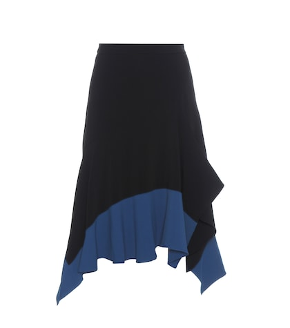 Asymmetrical crêpe skirt