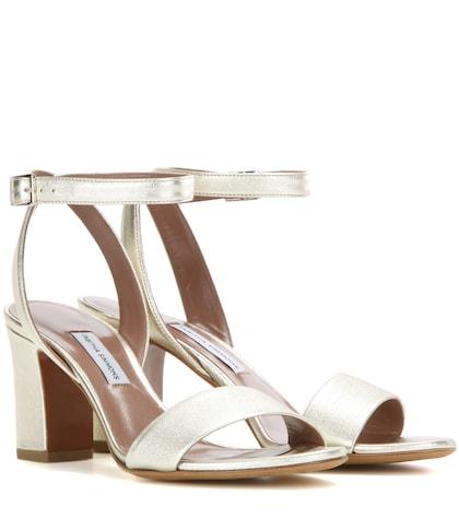 Leticia Metallic Leather Sandals