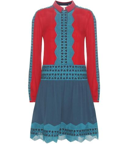 Brodie Embroidered Silk Dress