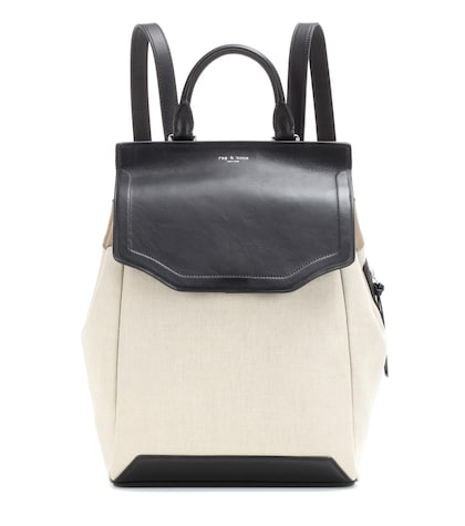 rag bone female pilot canvas and leather backpack