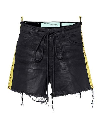 Strap 5 denim shorts
