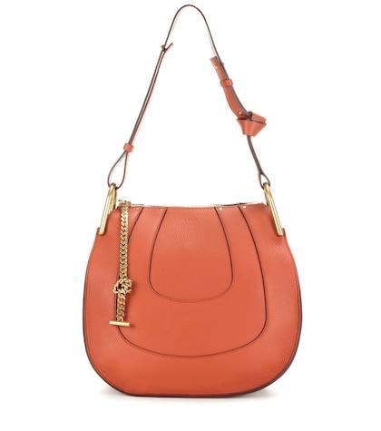 chloe female 240769 hayley small leather shoulder bag