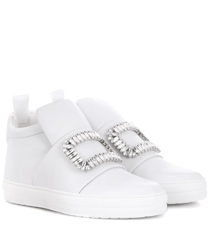 Sneaky Viv Embellished High-top Leather Sneakers