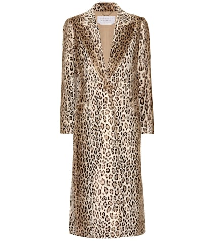 Ellis leopard-printed coat