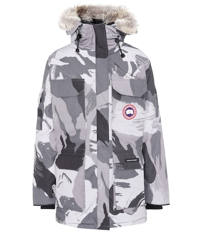 Expedition camouflage down parka
