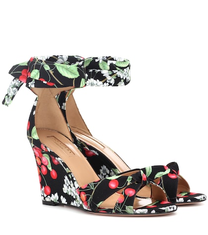 Cherry Blossom wedge sandals