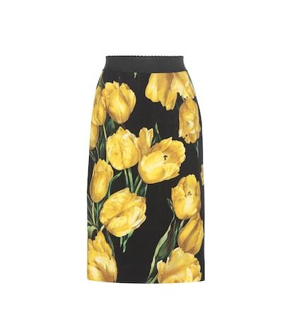 Printed Wool Skirt
