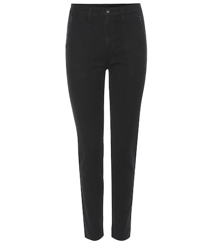 ag jeans female the kinsley cropped skinny trousers