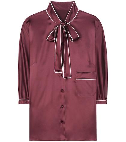 dolce gabbana female silk blouse