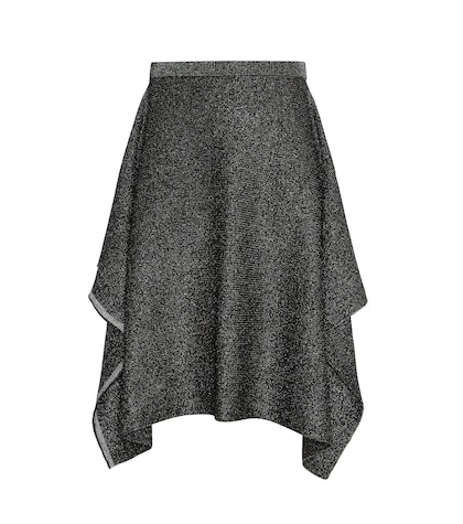 Metallic Knitted Skirt