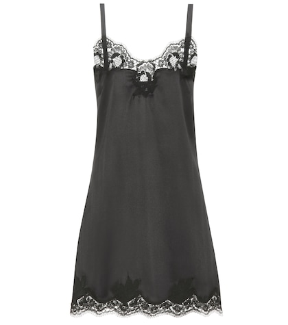 Silk-blend slip dress