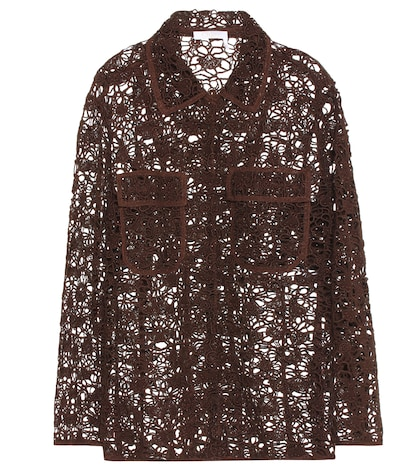 Long sleeve floral lace jacket