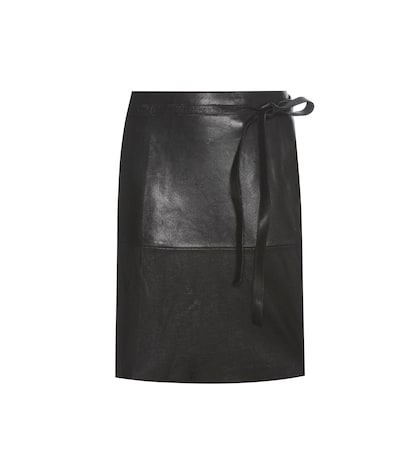 Coy leather wrap skirt