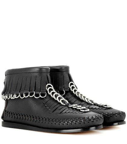 alexander wang female montana leather ankle boots