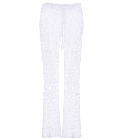Bianca crocheted cotton trousers