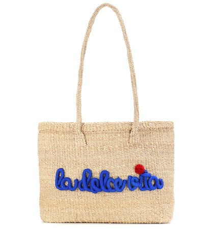 Dolce straw tote