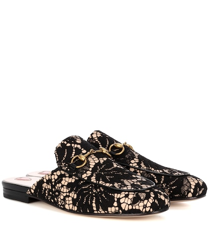 Princetown lace slippers