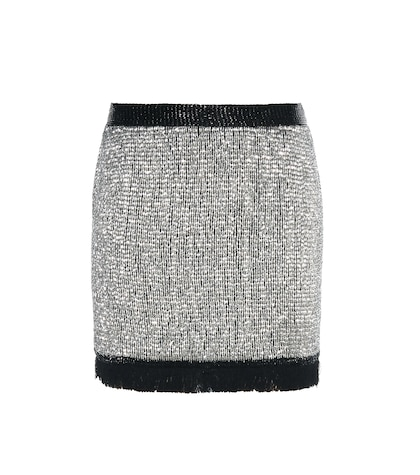 tom ford female embellished silk skirt