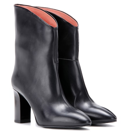 acne studios female ava leather ankle boots