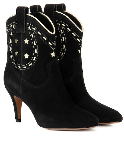 marc jacobs female georgia suede cowboy boots
