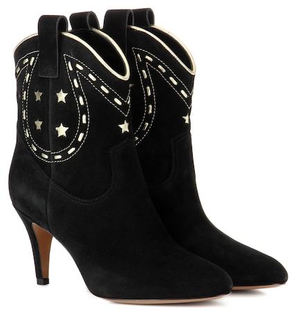 Georgia suede cowboy boots