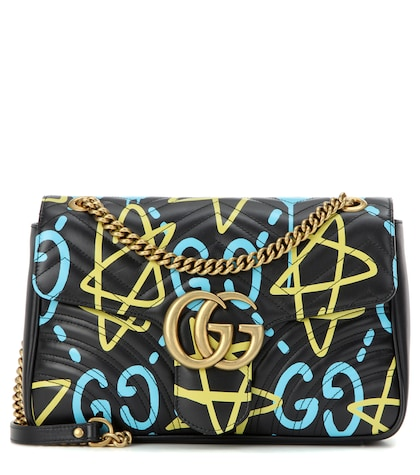 GucciGhost GG Marmont Medium leather shoulder bag