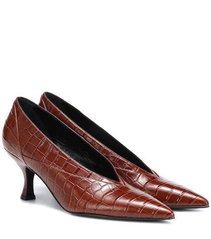 Rafaella embossed leather pumps