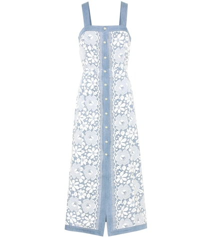 Giselle lace-covered cotton dress