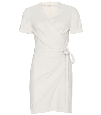 Kansas Linen-blend Wrap Dress