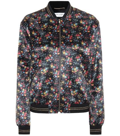 saint laurent female printed bomber jacket