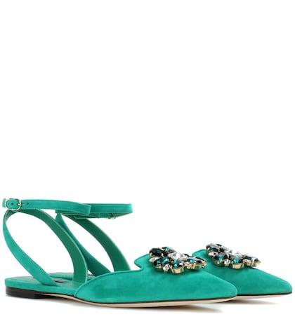 Bellucci Embellished Suede Sandals
