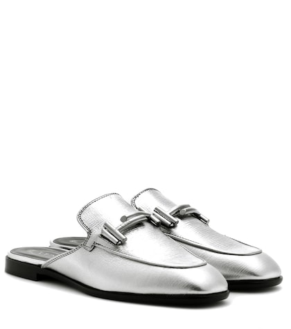 tods female leather mules