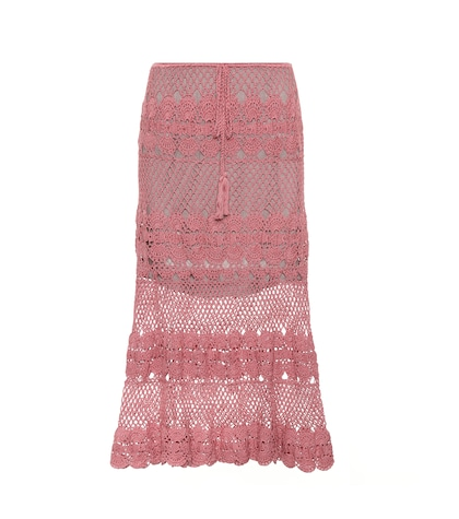 Marianne crocheted cotton skirt