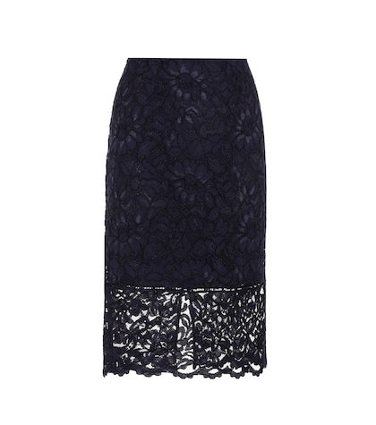 polo ralph lauren female lace pencil skirt