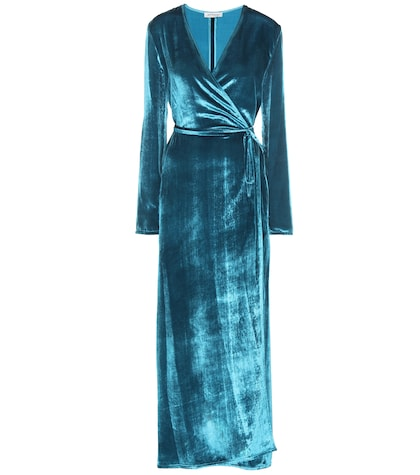 Raquel Velvet Wrap Dress