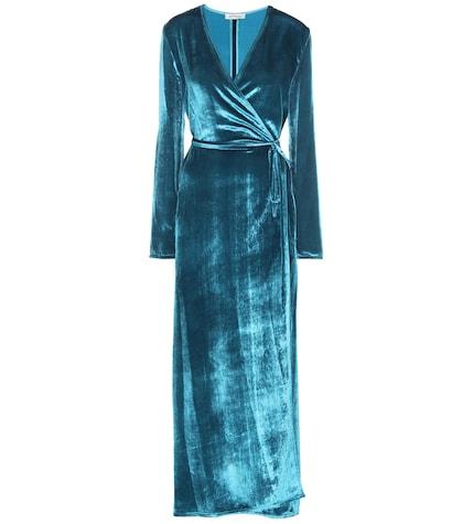 Raquel velvet wrap dress