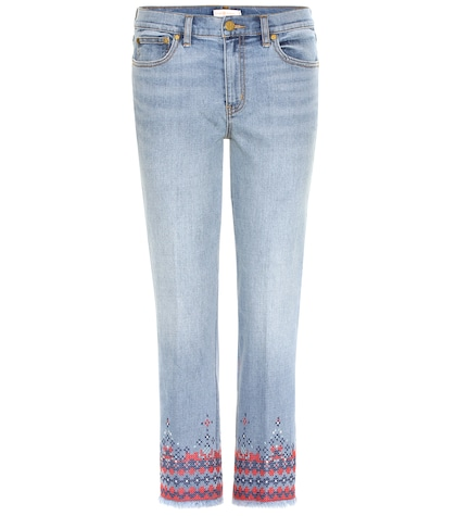 Myers embroidered cropped jeans
